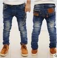 2016 новый хорошее качество детские джинсы мода детские брюки костюм весна и зима мальчиков брюки розничная CP116