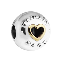 Fits for Pandora Charms Bracelets 100% 925 Sterling Silver Jewelry Family & Love Clip Beads Free Shipping