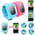 Telefone inteligente relógio crianças relógio de pulso criança W5 GSM GPRS GPS localizador rastreador Anti perdida Smartwatch de guarda para iOS Android