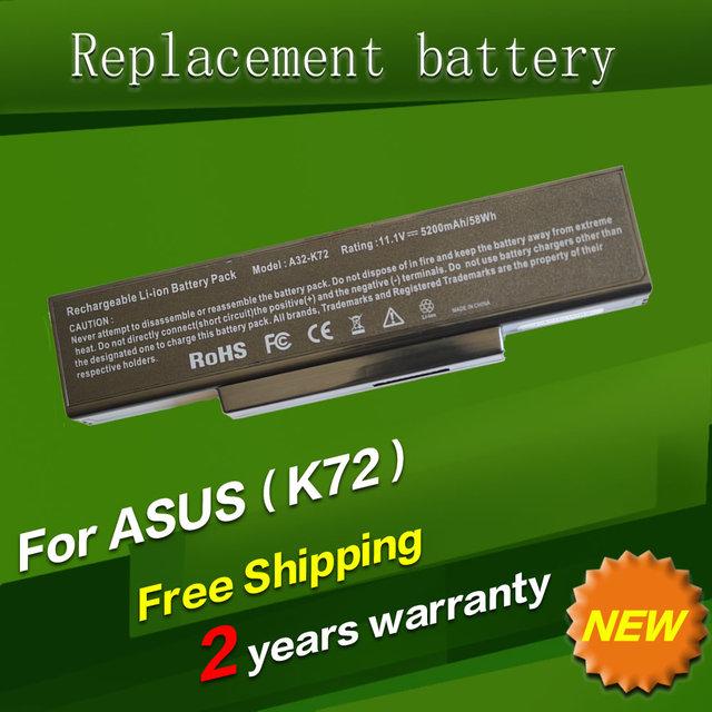 Jigu 6 celdas de batería portátil para asus a32-k72 a32-n71 k73e k73j K73JK K73S K73SV N71 N71J N71JA N71JQ N71JV N71V N71VG N71VN N73
