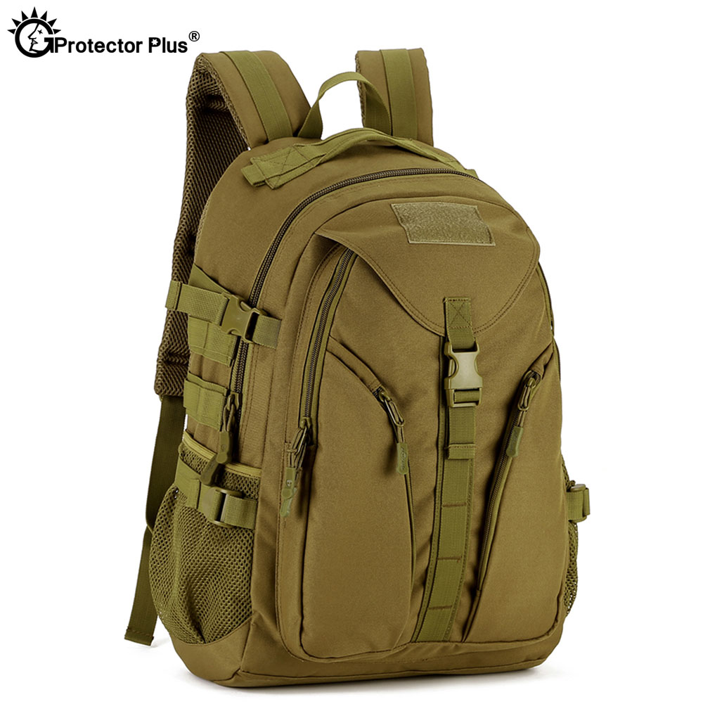 PROTECTOR PLUS 40L Military Style Outdoor Travel Backpack Climbing Hiking 14 Inches Laptop Durable Backpack Waterproof