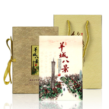 Silk Stamp Album Creative Art book Eight Scenes of Guangzhou Cultural tourism souvenir gift foreign amazing charm quality book amazing machines amazing aeroplanes activity book