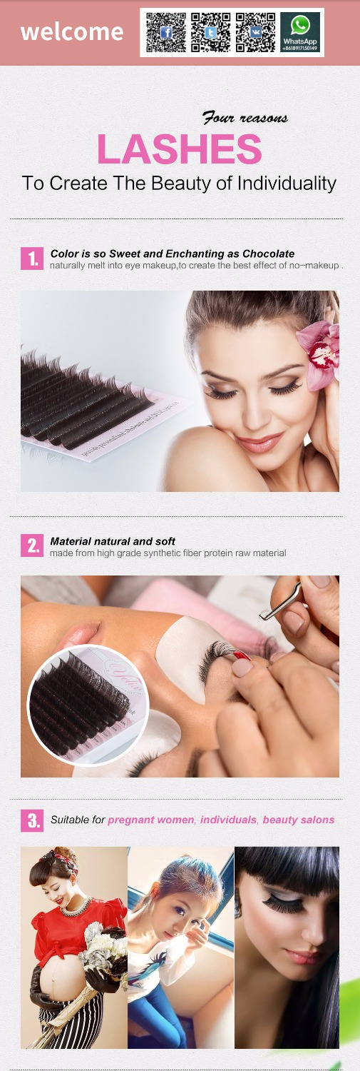 7-15 mix Faux Mink Eyelashes Natural Dark Brown False Individual Lashes Colored Eyelash Extension Fake Set 0.07/0.10 C D 1 Box