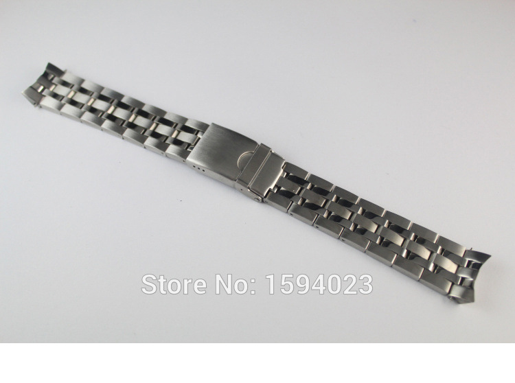 19mm <font><b>PRC200</b></font> T055417 T055430 T055410 Watchband Watch Parts male strip Solid Stainless steel bracelet strap image