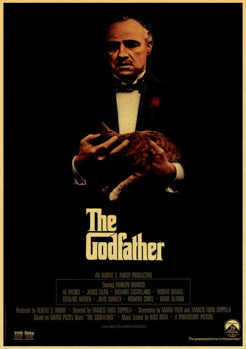 Vintage Usa Movie Godfather Poster Retro Poster Painting