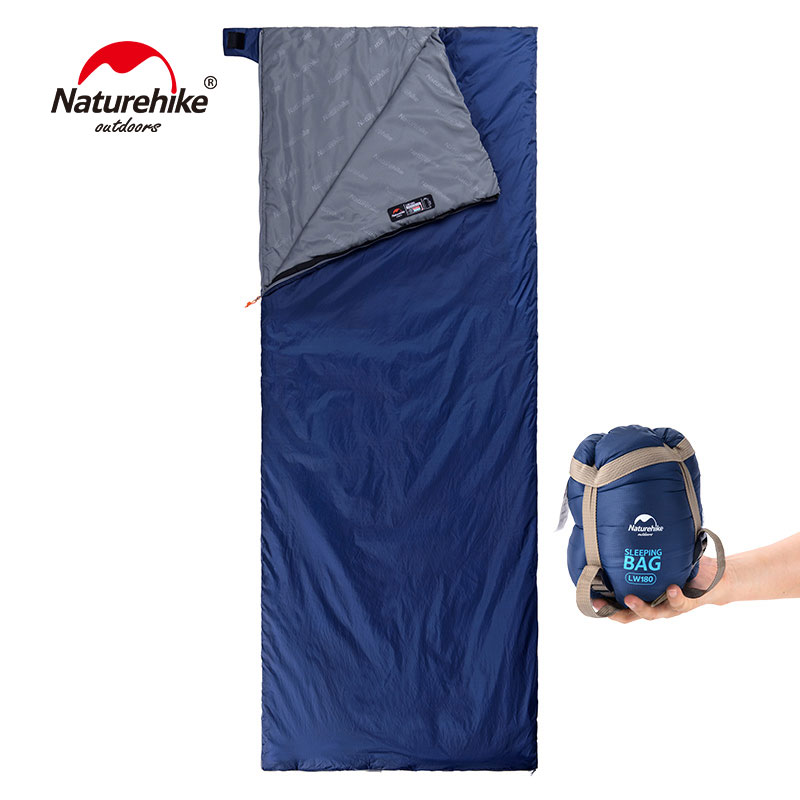 NatureHike 200x85cm Spring Autumn Ultralight Envelope Cotton Mini Sleeping Bag Outdoor Nature Camping Hiking Climbing outdoor naturehike ultralight sleeping bag for adult tents cotton filler envelope hiking traveling tent quilt length 1 9m