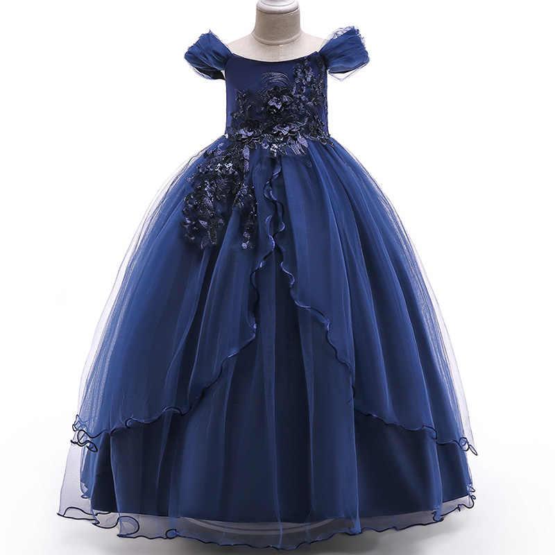 bd860d39e0f7a ... Baby Girls Dress 2018 Summer Clothes Wedding Dress Kids Dresses For Girls  Clothing Party Princess Dress ...