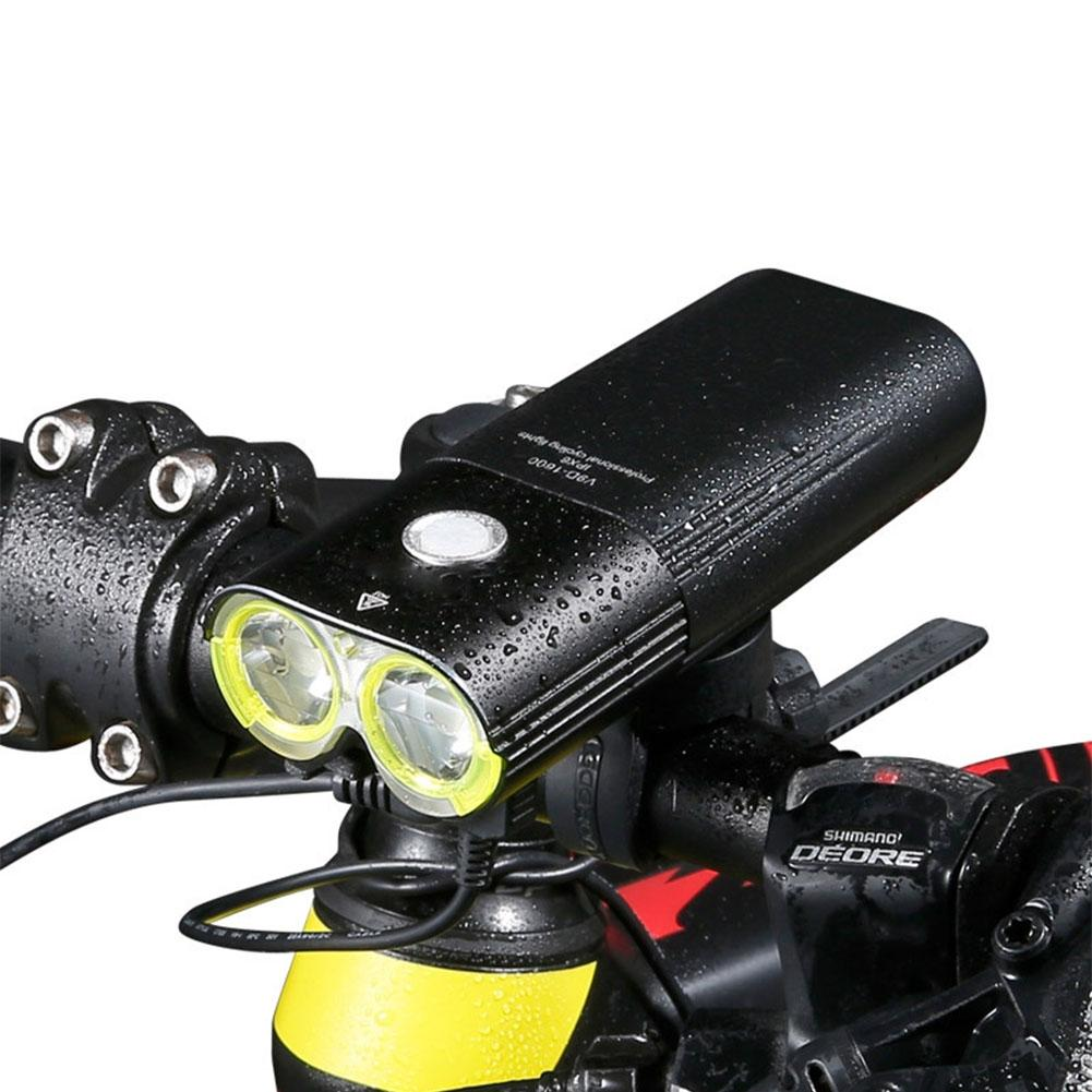 LumiParty Bicycle Front Lamp Headlight Recharging High Brightness Waterproof Bike Cycling Safety Headlamp light solar energy usb rechargeable 2 in 1 bicycle safety warning lamp cycling bike led front light waterproof headlight black white