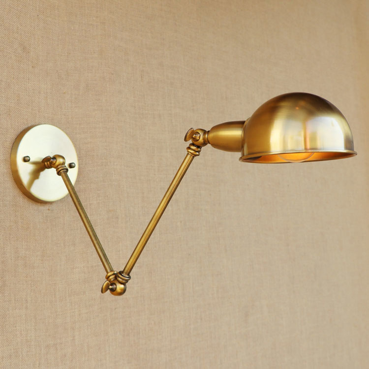 ФОТО Adjustable Swing Long Arm Wall Light Vintage Home Lighting Loft Industrial Wall Lamp LED Wall Sconce Lampen Appliqued Murales