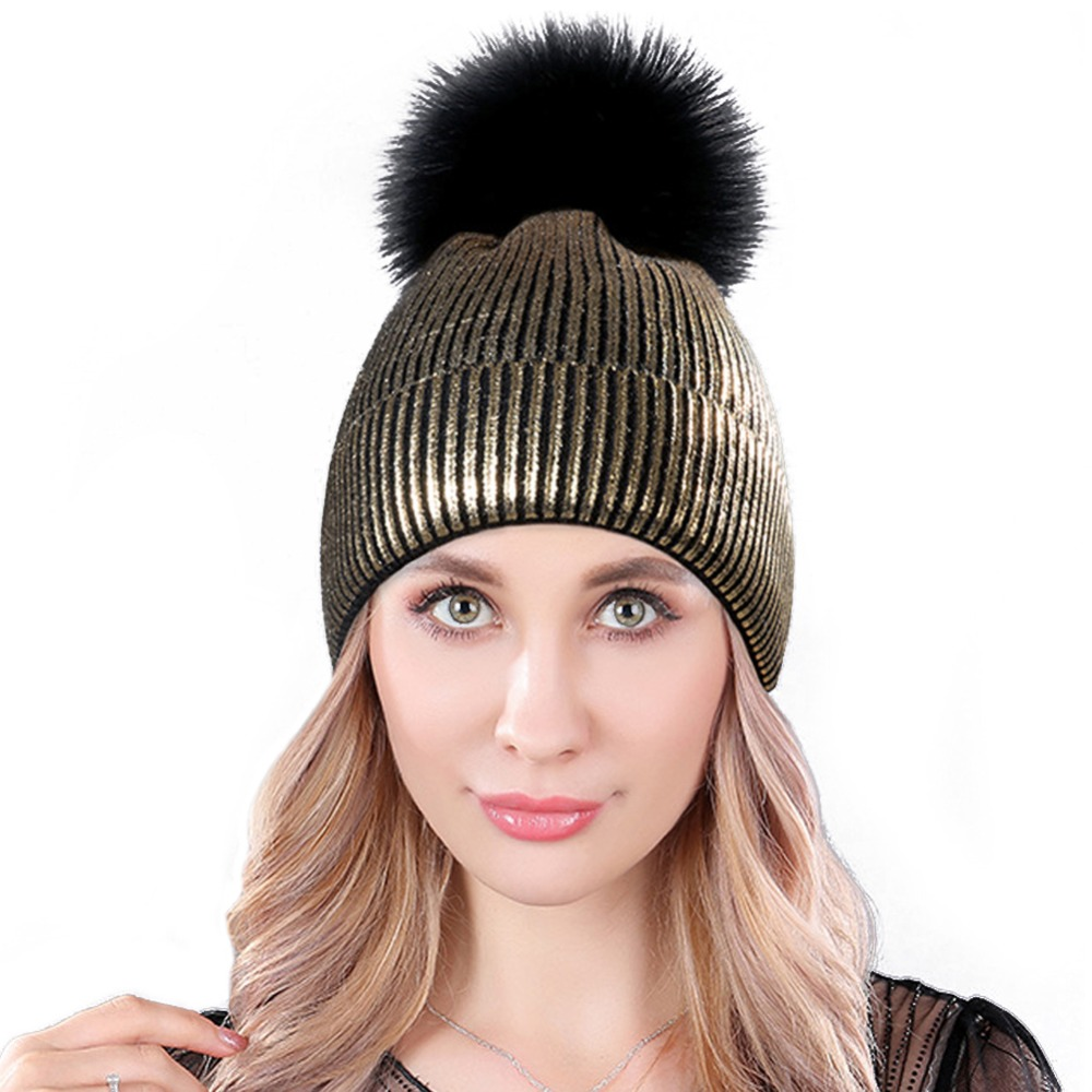 2018 New Autumn Winter Hats For Women Colorful Wool Knitted Hat Fashion Brand Cap Casual Warm Hat Female Skullies Beanies Bonnet