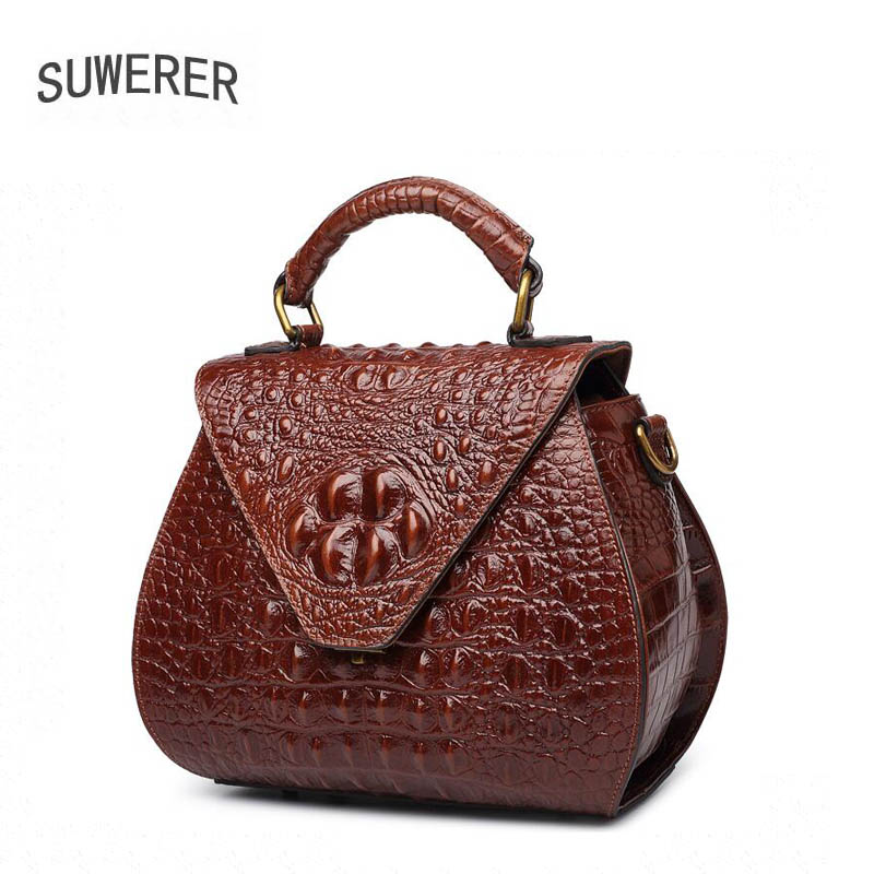 2018 Hot Sale Alligator Polyester Soft Cover Totes New Genuine Leather Women Handbags Luxury Bags Designer Bag Versatile