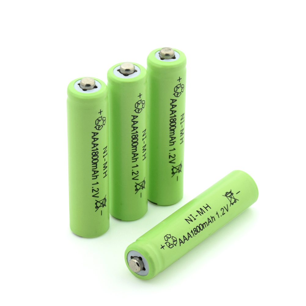 4/8/12/16/20 Pieces <font><b>Rechargeable</b></font> <font><b>1.2V</b></font> Green <font><b>Aaa</b></font> <font><b>1800mAh</b></font> <font><b>Ni</b></font>-<font><b>MH</b></font> <font><b>Batteries</b></font> 3A <font><b>AAA</b></font> NiMH <font><b>Battery</b></font> Replacement Cells With Bateria Case image