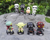 Funko POP Star Wars 7 White Soldier Darth Vader Bb 8 61 Karen Shakes Her Head with a Toy