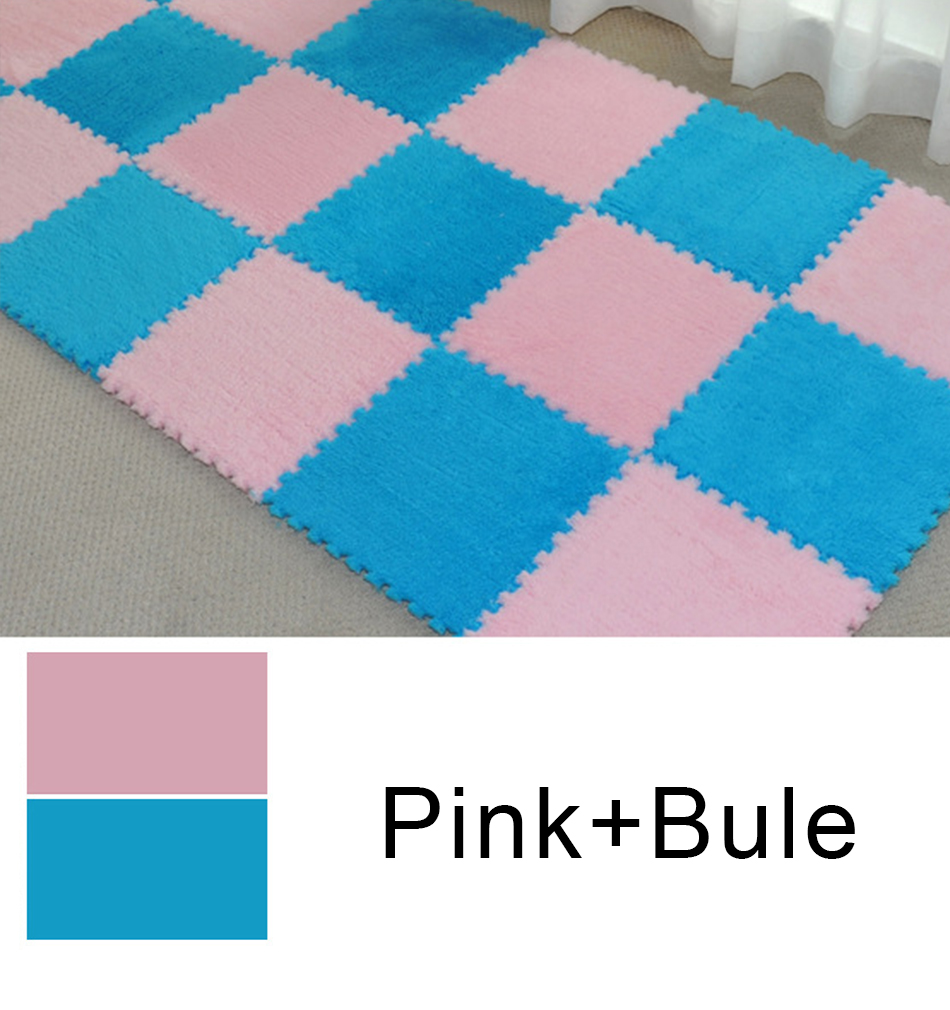 HTB1hX8yRcfpK1RjSZFOq6y6nFXah 10Pcs/Lot Children's Rug Soft Plush Baby Play Mat Toys Eva Foam Kids Rug Puzzle Children's Mat Interlock Floor Playmat 30*30 CM