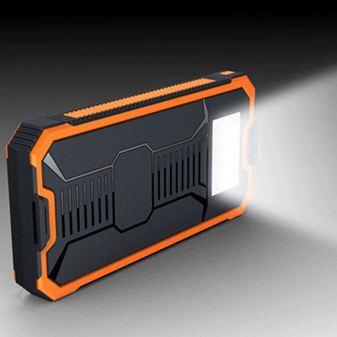 Solar Power Bank Real 20000 mAh Dual USB External Waterproof Polymer Battery Charger Outdoor Light Mobile Powerbank стоимость