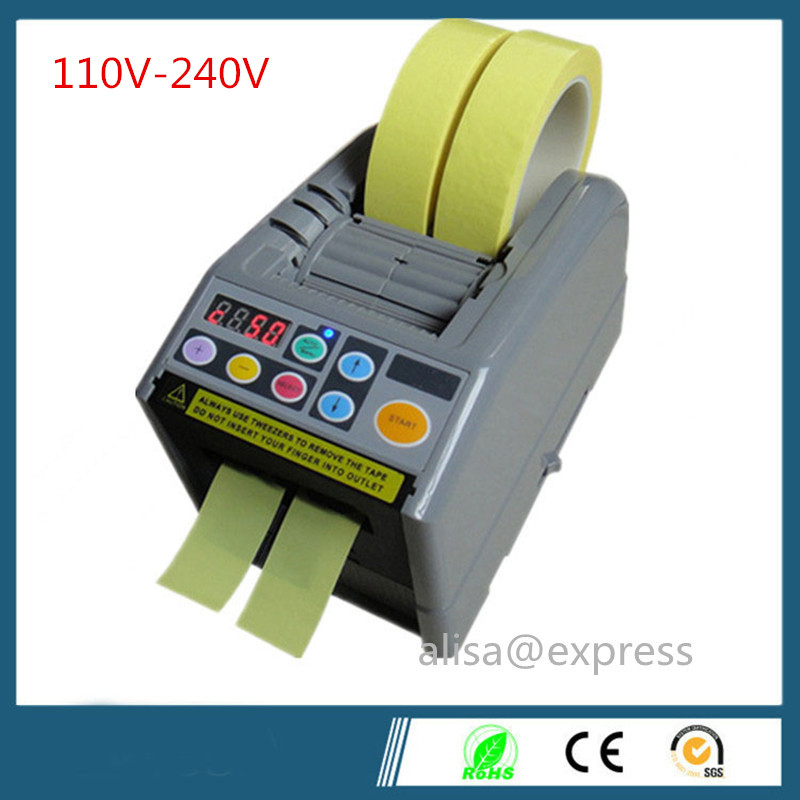 110v-240v ZCUT-9 packing tape dispenser, 6-60mm width, 5-999mm length, Automatic Cutting Machine Tape Dispenser japan motor automatic tape dispenser zcut 9 tape cutter 6 lengths memory function 60mm width tape max tape roller dia 300mm page 2
