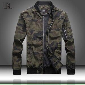Image 1 - Esercito Giacca Mimetica Uomini Casual Bomber Giubbotti Mens Zipper Outwear Giacca di Autunno della Molla Sottile Cappotto Uomo Più Il Formato 7XL formato