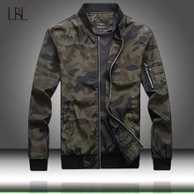 Ordu kamuflaj ceket erkekler rahat bombacı ceketler Mens fermuar dış giyim ceket bahar sonbahar ince ceket erkekler artı boyutu 7XL boyutu
