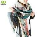 GOPLUS 8 Цвет Мода Осень Зима Корея Пары двусторонняя Шерстяной Шарф Мужчин Тканые Шарфы Кондиционер Теплый Платок одеяло