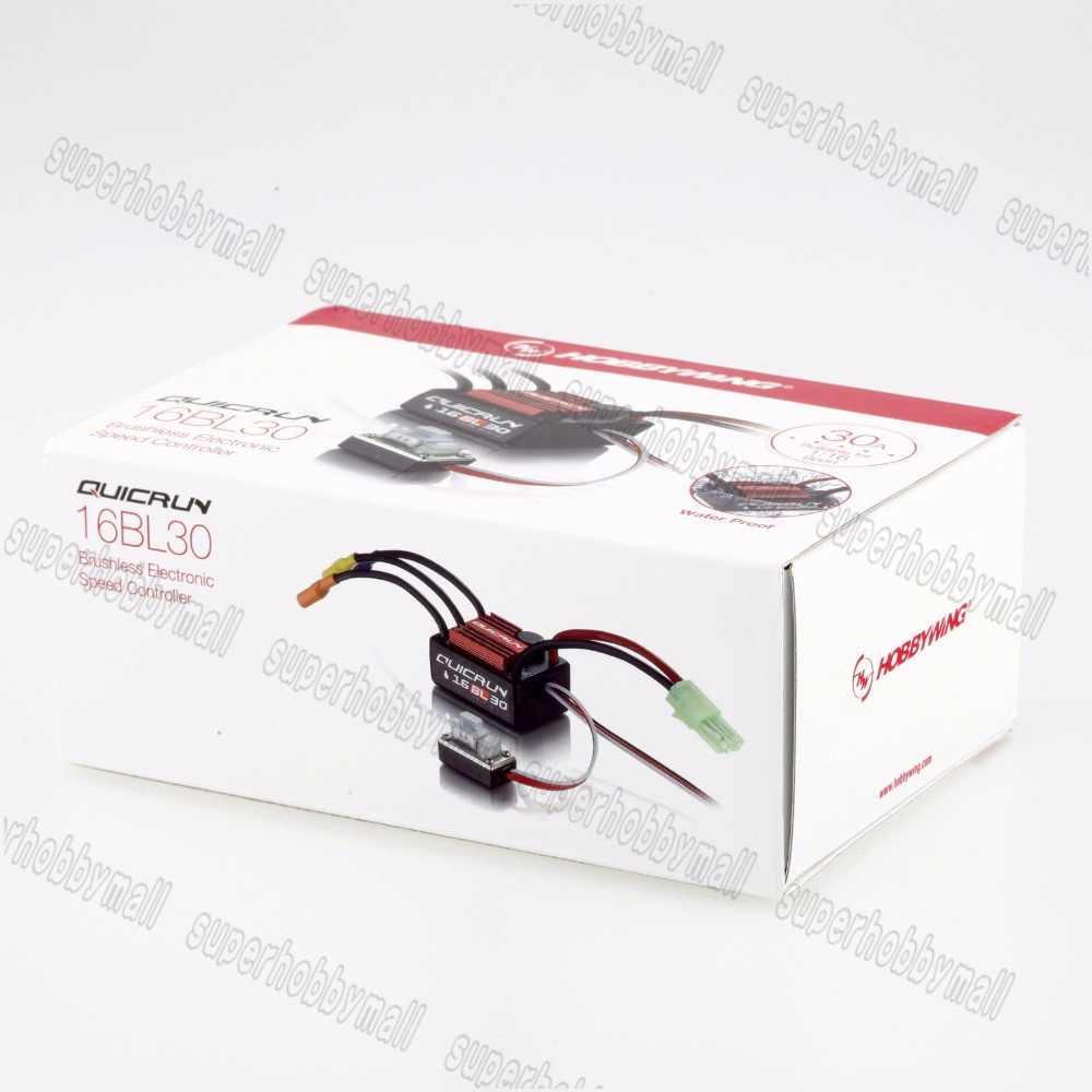 1 piezas Hobbywing QuicRun-WP-16BL30 30A Sensorless sin escobillas controladores de velocidad ESC para 1/16 de 1/18 coches RC