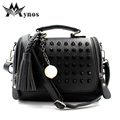 Brand Tassel Women Leather Handbag Messenger Bag Designer Rivet Shoulder Bags Ladies Crossbody Top-Handle Bags Sac a Main Bolsos