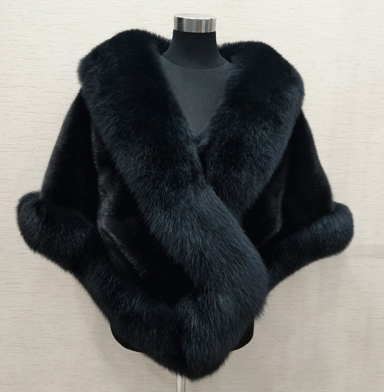 Купить с кэшбэком 8 colours Grey/blue/white/black faux fur wrap bridal wrap faux fur shrug faux fur stole shawl cape
