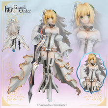 24cm New Arrival Anime Action Figure FGO Fate Grand Order Saber Wedding Ver Model PVC Decoration White Dress figura 19cm anime my little sister can t be this cute action figure black cat kuro neko white dress ver model pvc decoration doll efi5