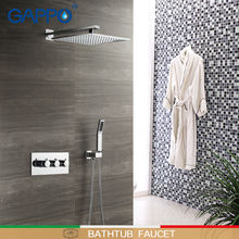 GAPPO shower Faucets waterfall heads rainfall sets bathroom concealed mixer bathtub faucets do anheiro