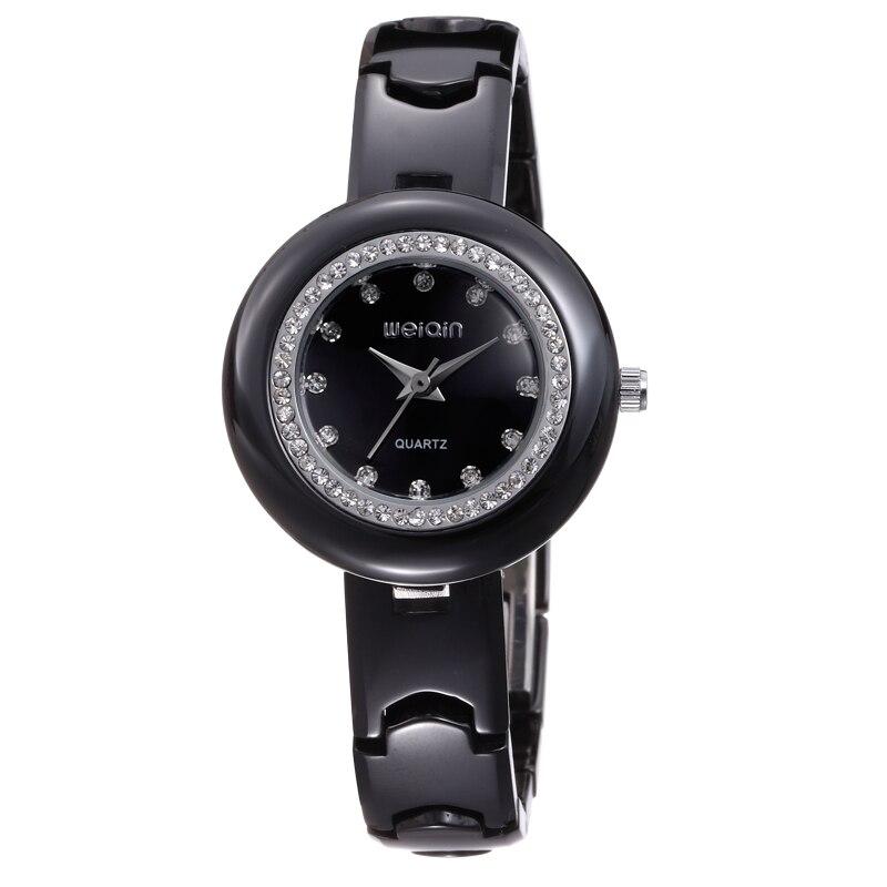 WEIQIN High Quality Fashion Ladies Watch Casual Business Lady Rhinestone Watch Elegant Ceramic Quartz Watch montre femme w3206 weiqin 1096 fashion rhinestone scale quartz watch for female