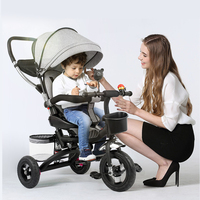 Baby Cart Light Folding Baby Stroller 3 Wheel Tricycle Baby Bike Bicycle Umbrella Car Two way implementation of bicycles