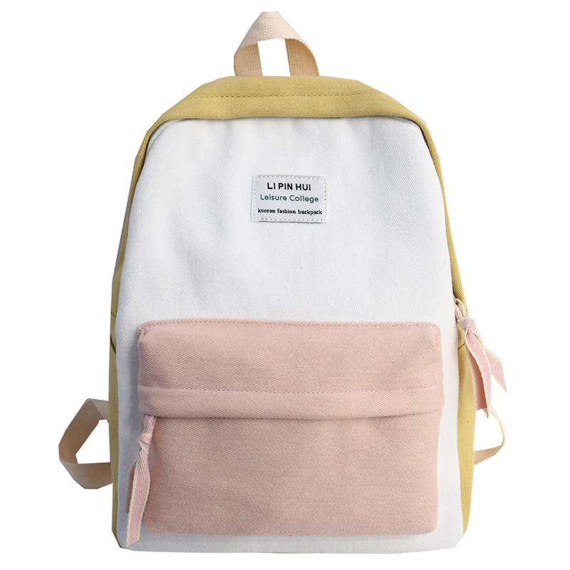 Image 2 - JOYPESSIE Fashion Korean Simple Cotton Backpack for Teenagers Travel Bagpack Male/Female School Backpack Stachels Rucksack-in Backpacks from Luggage & Bags