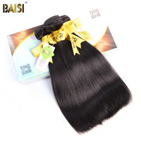 BAISI Hair 100% Human Hair Brazilian 10A Raw Virgin Hair Straight Extension 3Pcs/Lot,Natural Color,8 28inches Free Shipping