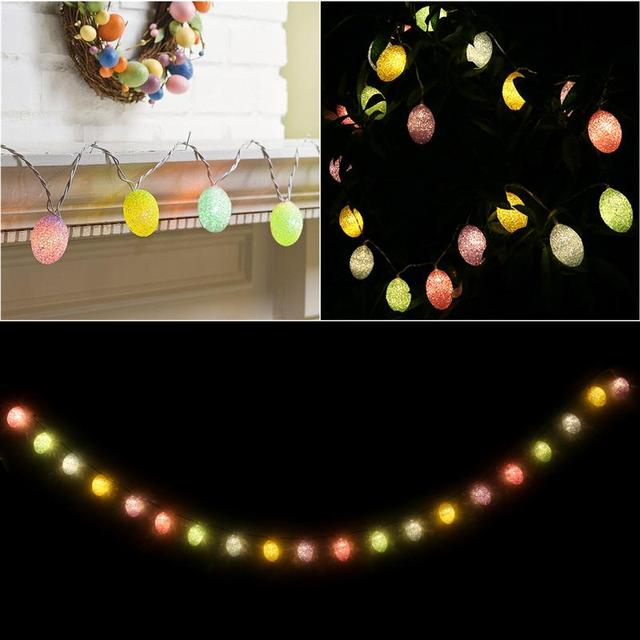 2 M 20 LED de Batería Powered LED Luces de Hadas de Cadena Luces Decorativas Para Pascua Huevos de Pascua Fiesta de Navidad Colgante Al Aire Libre luces