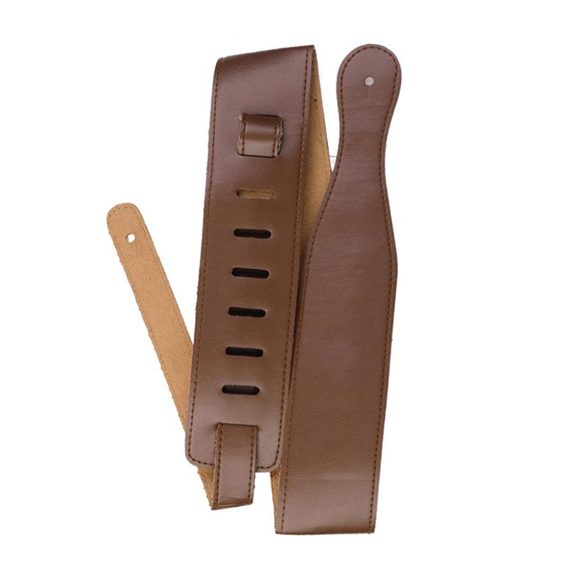 New Brown Adjustable Soft PU Leather Thick Strap For Electric Acoustic Guitar Bass Belt Musical Instruments Accessories in Guitar Parts Accessories from Sports Entertainment