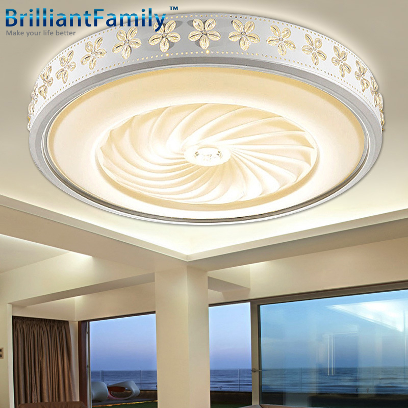 ФОТО Modern Ceiling Lamp Circular LED Crystal lamp Bauhinia pattern Flush mount ceiling light Indoor Bedroom Children room lamps