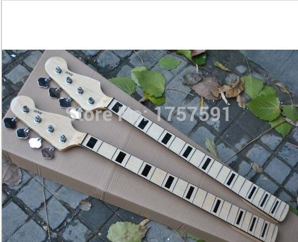 HOT Wholesale 20 fret neck 4 Strings F Bass Neck Maple With Tuning Keys in stock Free Shipping 9158 7 strings headless electric guitar steinberger style wood color flame maple neck in stock free shipping