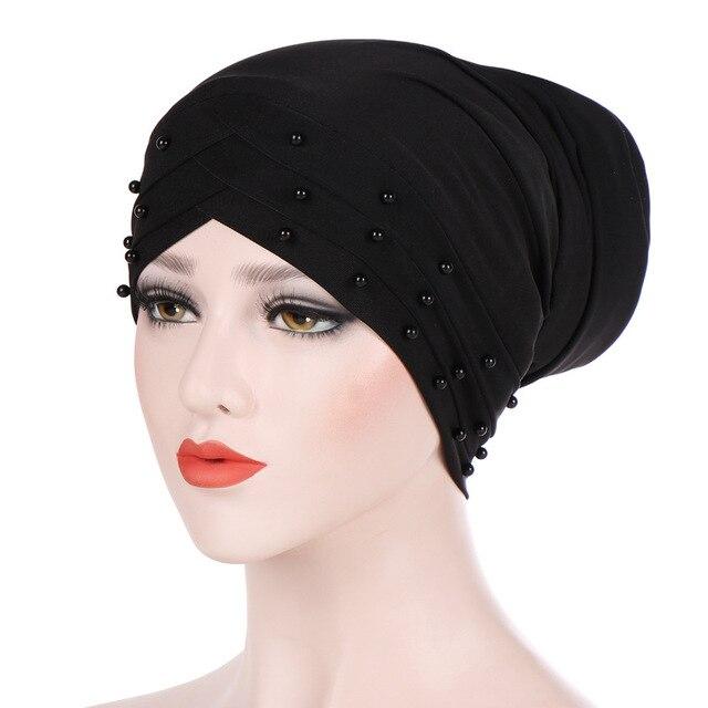 Women Fashion Long Muslim Turban Headband Hat Femme Hijab Cap Lady Chemo  Head Wrap Hair Loss 36e0c0cdb18