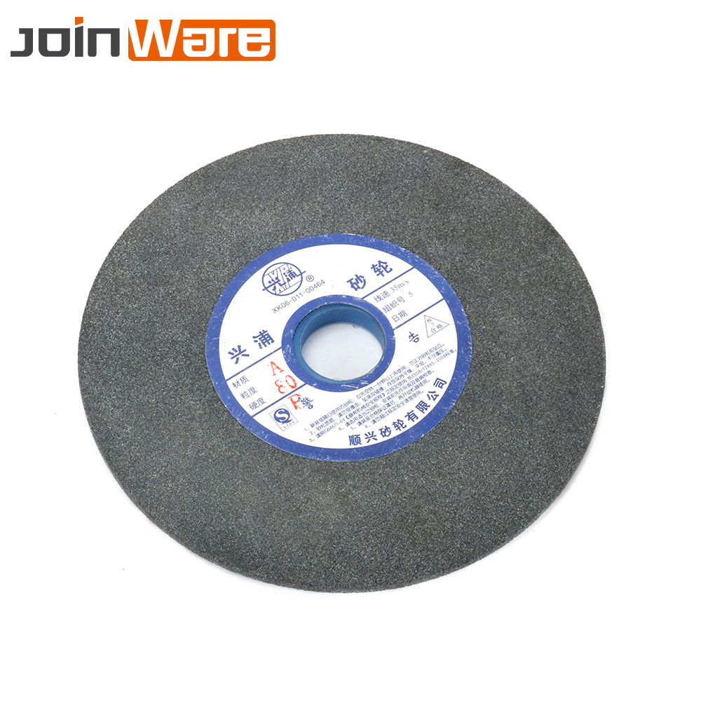 150mm 200mm 250mm Brown Corundum Ceramics Grinding Wheel 46 60 80# For Metalworking Alloy Steel 32mm Aperture 10mm Thickness