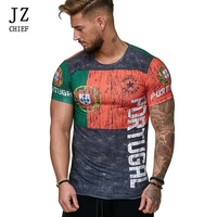 JZ CHIEF Men T Shirt Cotton Short Sleeve Summer Tshirt Men 2019 Hip Hop T Shirt Printed Country Colorful