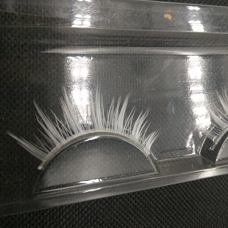 Gorgeous White Color False Eyelashes for Party Dancing Colorful Fake Lashes extention