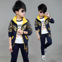 2016 male child set sweatshirt child spring and autumn clothing children's twinset sports child baby spring outerwear