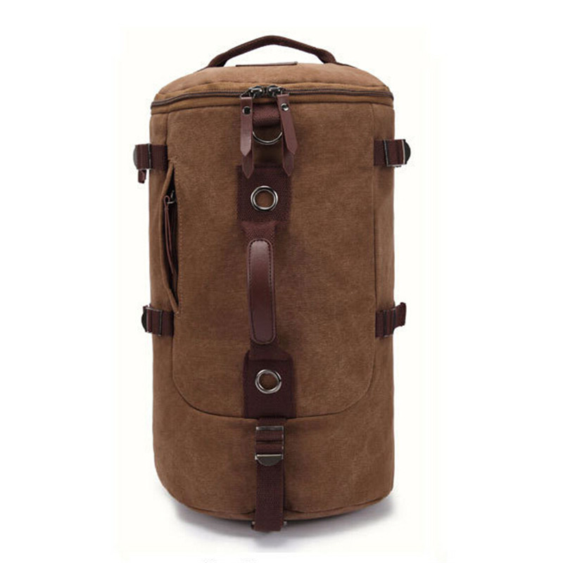ФОТО 2017 New Men's Vintage Canva Backpack Rucksack Laptop Shoulder Travel Bag High Quality Free Shipping P100