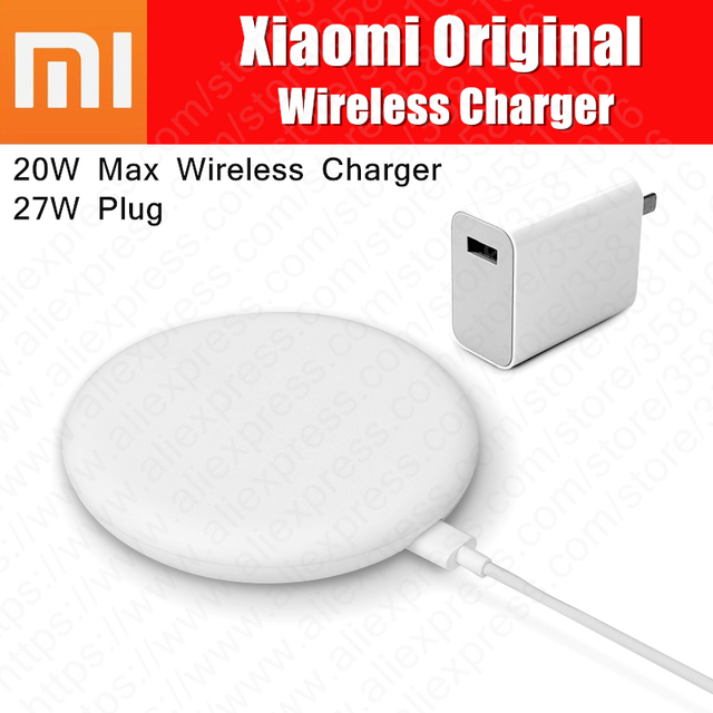 Original Xiaomi Wireless Charger 20W Max Turbo Charging with 27w Plug For Mi 9 Qi EPP Compatible 10W For iPhone XS XR XS MAX