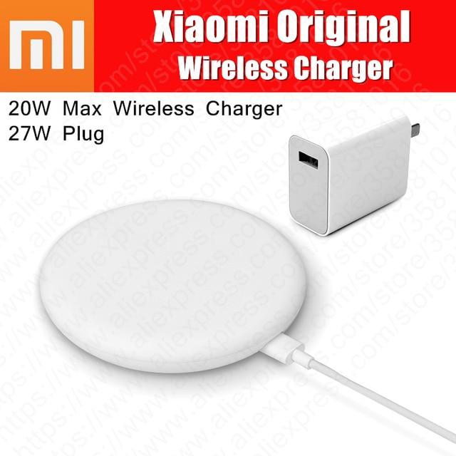 オリジナルシャオ mi ワイヤレス充電器 20 ワット最大ターボ充電 27 ワットプラグ mi ため 9 チー EPP と互換性 10 ワット iphone XS XR XS 最大