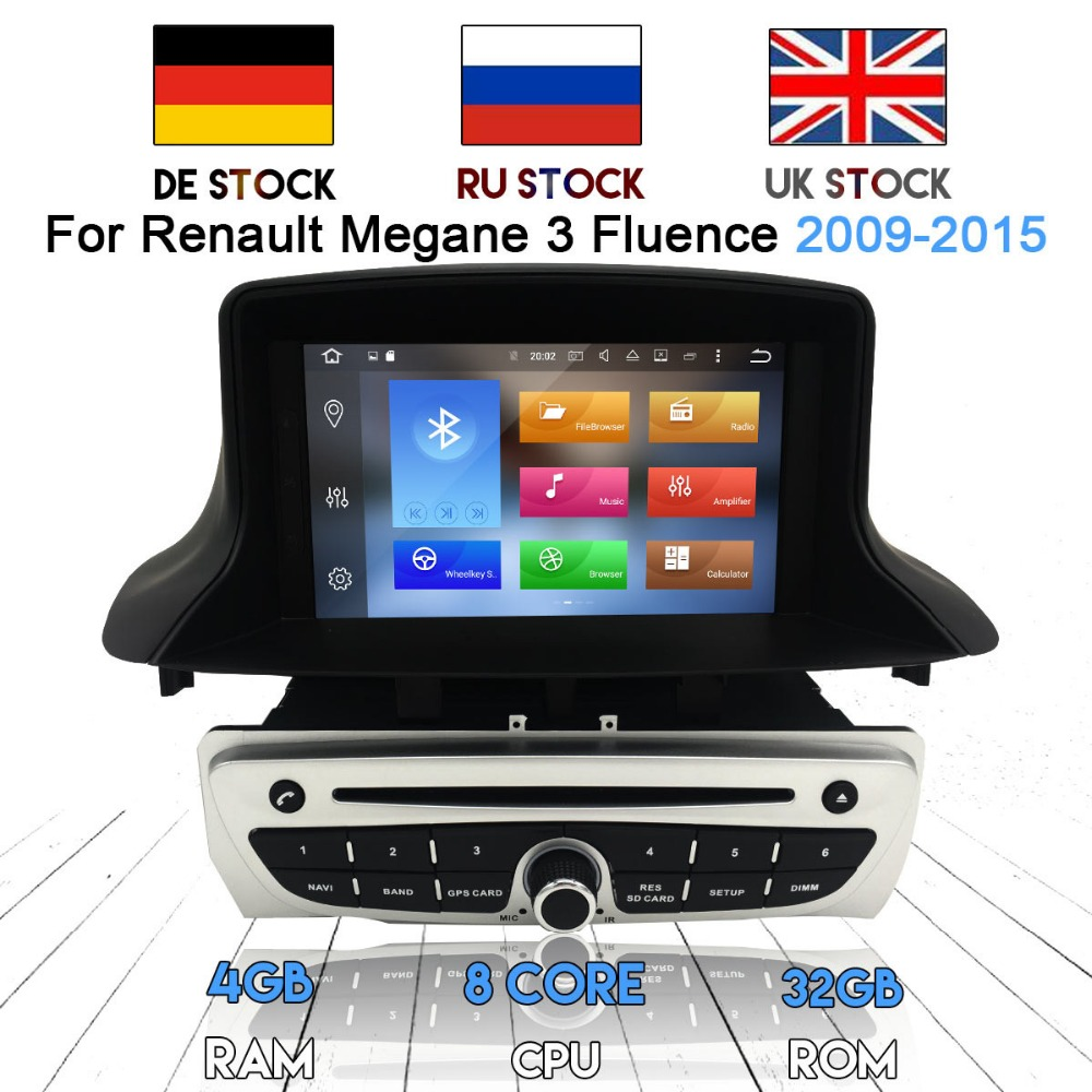 Newest Android 8.0 7.1 Car Radio <font><b>DVD</b></font> Player <font><b>GPS</b></font> Navigation for Renault <font><b>Megane</b></font> 3 Fluence 2009-2015 Audio Stereo Unit Multimedia image