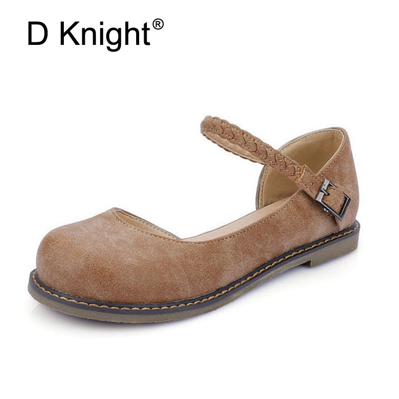 Fashion Round Toe Slip-on Shallow Mouth Ankle Strap Women Mary Jane Flats Ladies Casual Flat Shoes Vintage Pu Flats For Women smart mini camera wifi support two way audio night vision sd card onvif motion detect camera with wifi for home security
