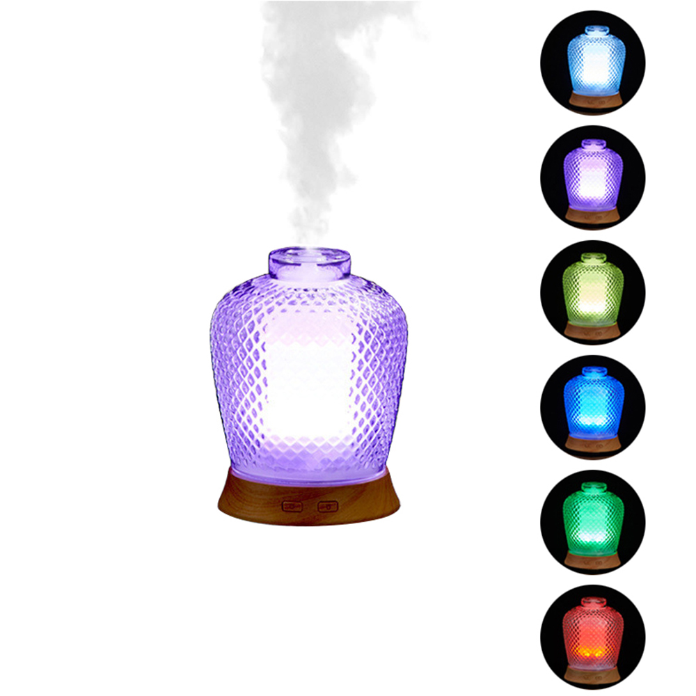 Unique Design Aroma Essential Oil Diffuser Ultrasonic Mist Maker Colourful Night Lights Air Humidifier