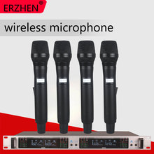 Wireless Microphone System 409GT Professional 4-Channel UHF Dynamic 4 Handheld