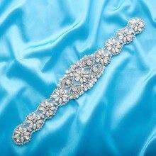 Кристальный свадебный пояс жемчужный свадебный пояс со стразами для свадебных аксессуаров серебряное золото и розовое золото только аппликация NZUK