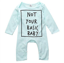 2016 Fashion 0-24M Baby Boy Girl Warm Infant Autumn Long Sleeve Romper Jumpsuit Cotton Clothes Outfits